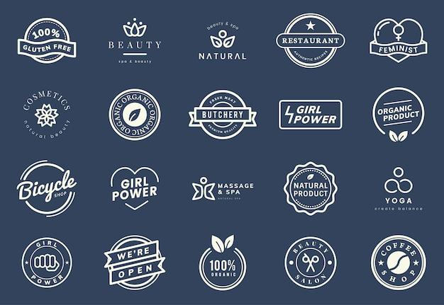 Коллекция логотипов и вексельных векторов