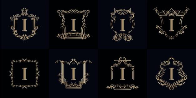 高級装飾が施されたロゴイニシャルiのコレクション