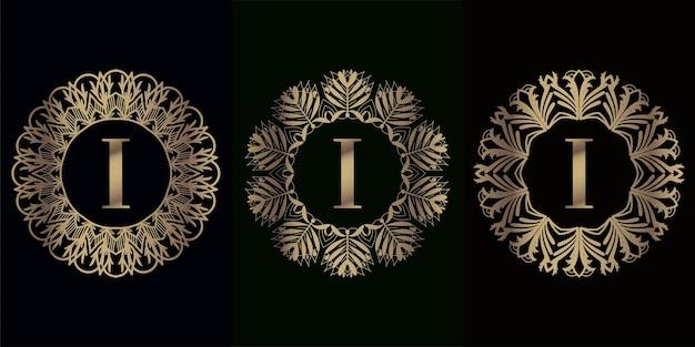 럭셔리 만다라 장식 프레임 초기 로고 컬렉션