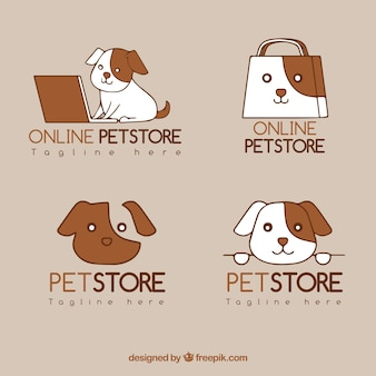 Collection of logo templates for pet stores
