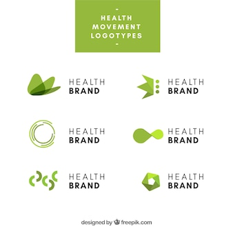 Collection of logos for health industry