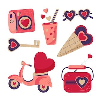 素敵なバレンタインデーの要素のコレクション