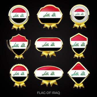 イラクの高級ゴールデンフラグバッジのコレクション