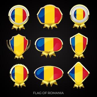 ルーマニアの高級ゴールデンフラグバッジのコレクション