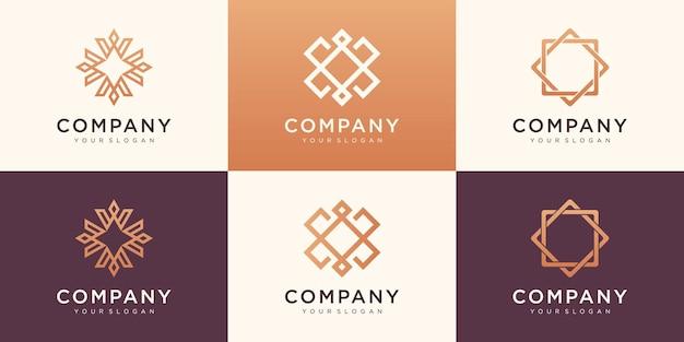 豪華でシンプルなロゴのコレクション。