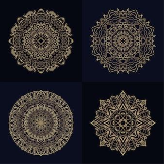 Коллекция орнамента мандала или цветок