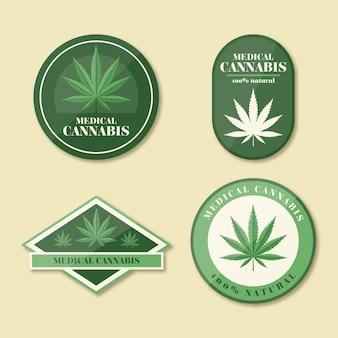 医療大麻バッジのコレクション