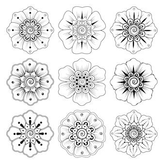 헤나 흰색 절연에 대한 멘디 꽃의 수집