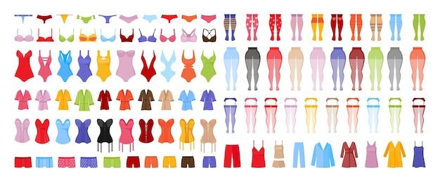 Коллекция мужского и женского нижнего белья