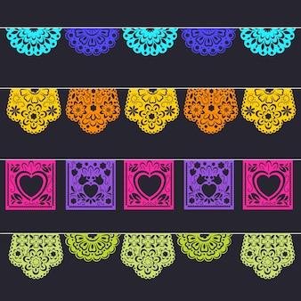 멕시코 깃발 천의 컬렉션