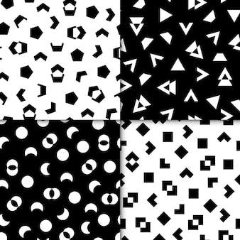 최소한의 기하학적 그린 패턴의 컬렉션