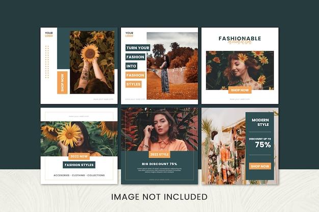 ファッションビジネスのためのミニマリスト販売のinstagramフィードのコレクション