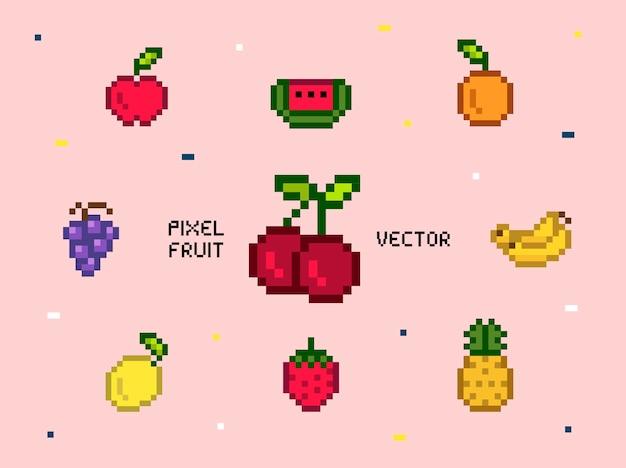 Коллекция смешанных фруктовых фруктов