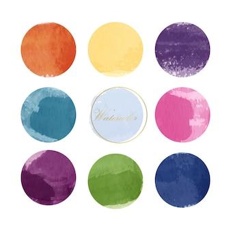 Коллекция смешанных акварельных красок