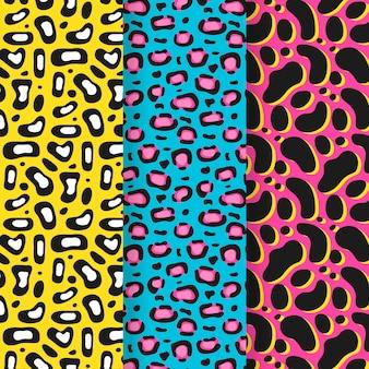 現代のアニマルプリントパターンのコレクション