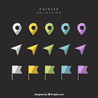 평면 디자인에 현대적인 포인터의 컬렉션