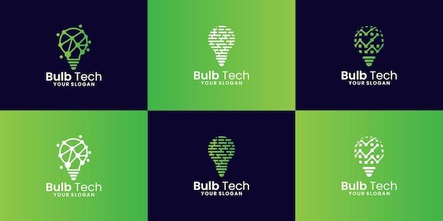 현대 기술 전구 로고 컬렉션