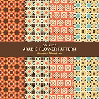아랍어 스타일의 모자이크 패턴 모음