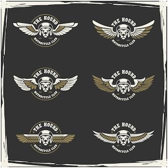 오토바이 클럽 및 차고 로고 컬렉션
