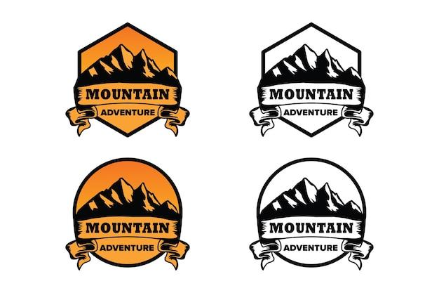 山のロゴのコンセプトデザインのコレクション