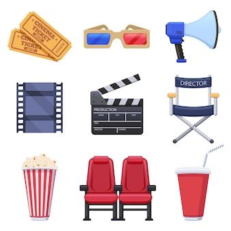 Коллекция элементов кинотеатра