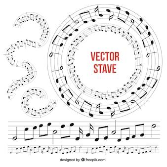 Коллекция музыкальных шесты