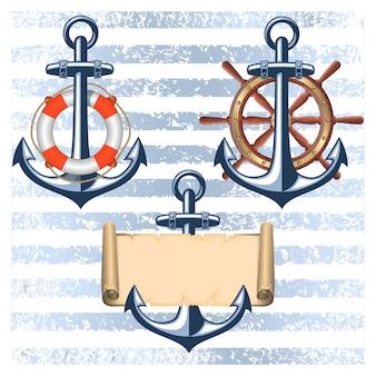 Коллекция морских элементов дизайна