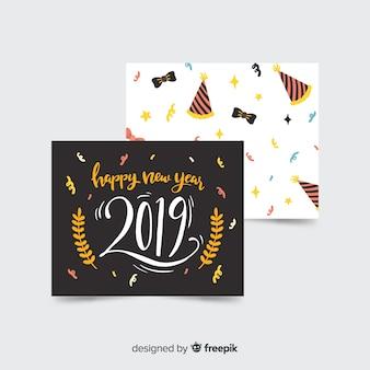 新しい年2019カードのコレクション