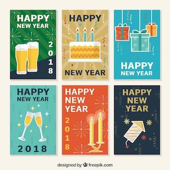 Коллекция поздравительных открыток нового года