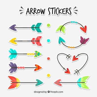 Collection of nice decorative arrow stickers