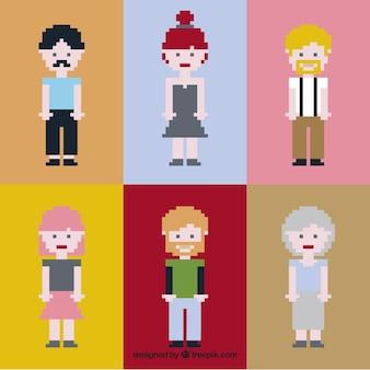 Коллекция хороших пиксельной людей