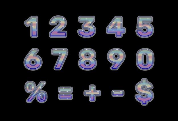 数字と数学記号のコレクション