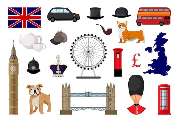 Коллекция предметов соединенного королевства великобритании