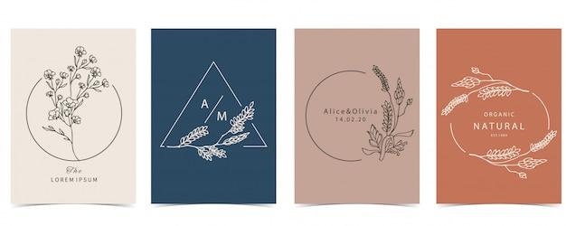 라벤더, 꽃으로 설정 신비로운 배경의 컬렉션입니다.