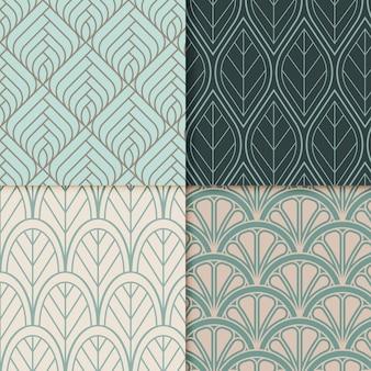 装飾用アールデコパターンのコレクション