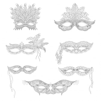 Collection of ornamental masks
