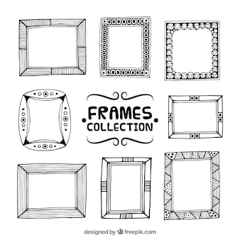 Collection of ornamental sketches frames