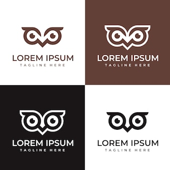 Коллекция шаблонов логотипа owl vision