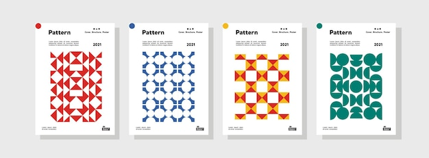 Коллекция шаблонов шаблонов для брендинга обложек дизайн макета комплекта плаката