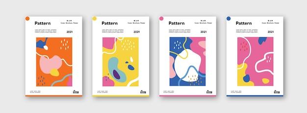 브랜딩을 위한 패턴 템플릿 컬렉션은 디자인 레이아웃 번들 포스터를 다룹니다.