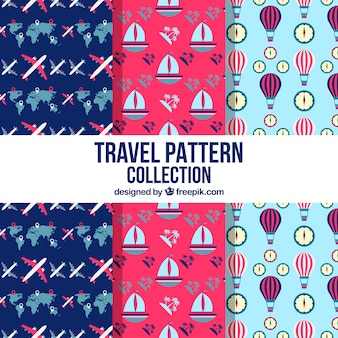 평면 디자인에 전송 패턴의 컬렉션