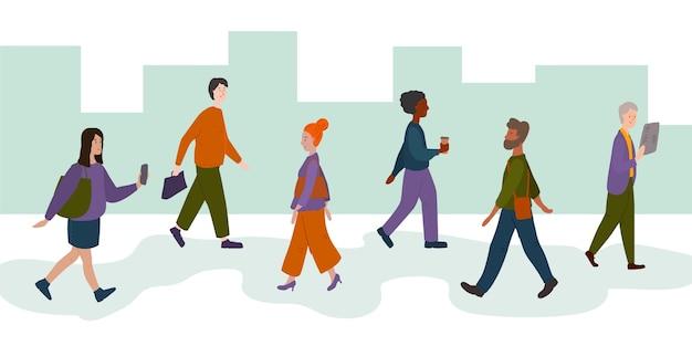 Сбор людей, возвращающихся к работе