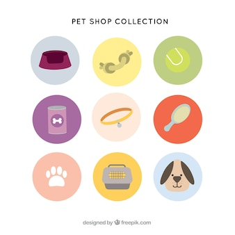 Коллекция предметов для домашних животных