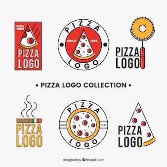 Коллекция логотипов пиццы