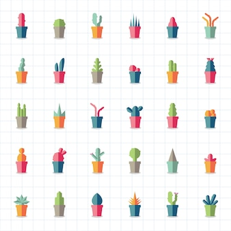 Collection of plants and tree vectors