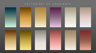 Collection of premium vintage gradients