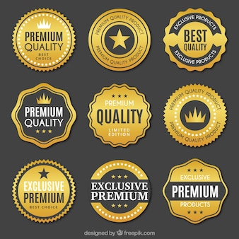 Collection of quality golden stickers