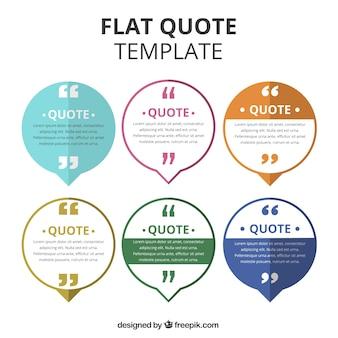 フラットデザインの引用テンプレートのコレクション