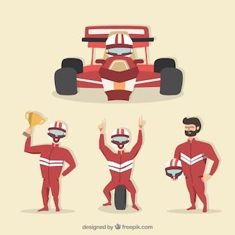 Коллекция гоночных персонажей