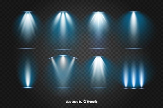 현실적인 빛의 파열의 컬렉션